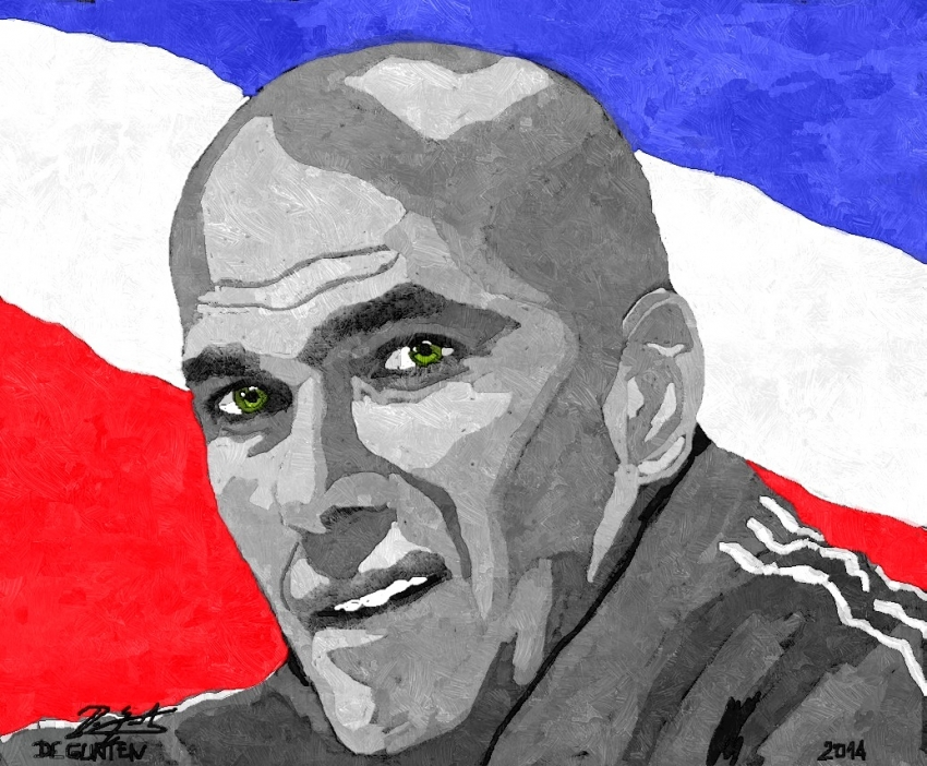 Zinedine Zidane by JIM